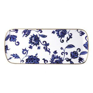"""Bernardaud Prince Bleu Cake Platter Rectangular 16"""""""