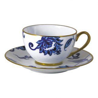 Bernardaud Prince Bleu Tea Cup And Saucer