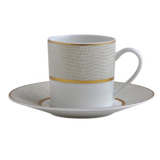 Bernardaud Sauvage Or Coffee Cup And Saucer