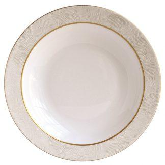 Bernardaud Sauvage Or Deep Round Dish 11.5''