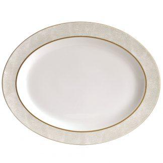 """Bernardaud Sauvage Or Oval Platter 13"""""""