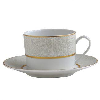 Bernardaud Sauvage Or Tea Cup And Saucer