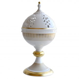 "Bernardaud Sol Incense Burner H. 12.2"" D. 6.5"""