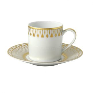 Bernardaud Soleil Levant Coffee Cup And Saucer