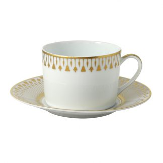Bernardaud Soleil Levant Tea Cup And Saucer