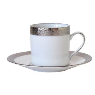 Bernardaud Torsade Coffee Cup And Saucer