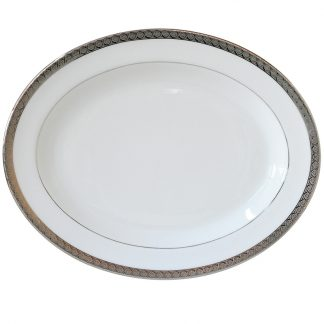 Bernardaud Torsade Oval Platter 13in