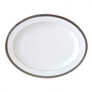 Bernardaud Torsade Oval Platter 15in