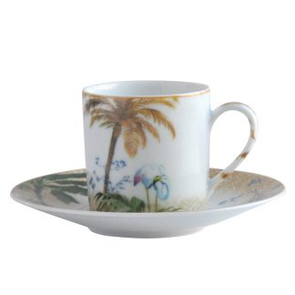 Bernardaud Tropiques Coffee Cup And Saucer