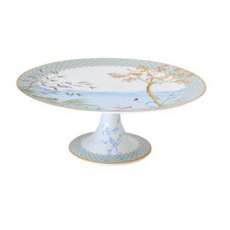 Bernardaud Tropiques Footed Cake Platter