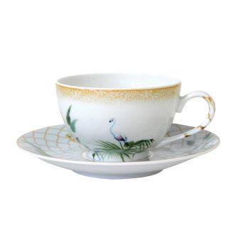 Bernardaud Tropiques Tea Cup & Saucer