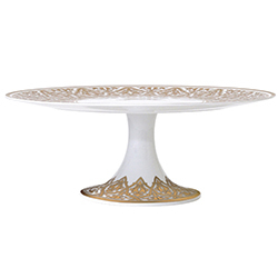 Bernardaud Venise Footed Cake Platter