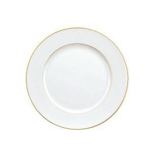 Christofle Albi Gilded Porcelain Dessert Plate