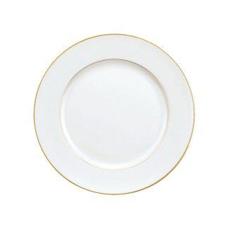 Christofle Albi Gilded Porcelain Dinner Plate
