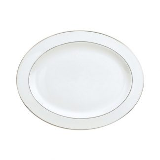 Christofle Albi Gilded Porcelain Oval Platter