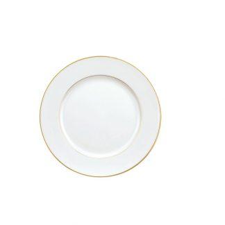 Christofle Albi Individual Gilded Porcelain Bread Plate