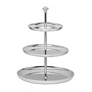 Christofle Albi Silver Plated Three Tier Dessert Stand