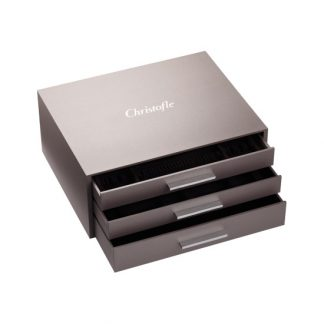 Christofle Chests Ambassador 125 Piece Flatware Storage Chest