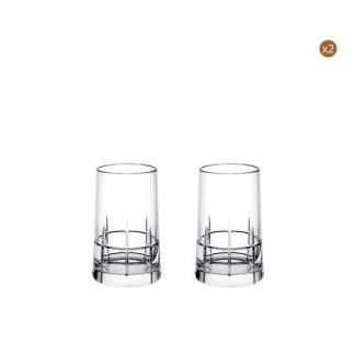 Christofle Graphik Gift Box Of 4 Vodka Glasses In Crystal