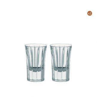 Christofle Iriana Set Of Four Crystal Shot Glasses