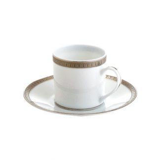 Christofle Malmaison Porcelain Demitasse Cup And Saucer
