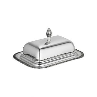 Christofle Malmaison Silver Plated Lidded Butter Dish