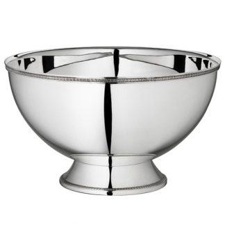 Christofle Malmaison Silver Plated Punch Bowl