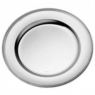 Christofle Malmaison Silver Plated Round Tray Extra Large