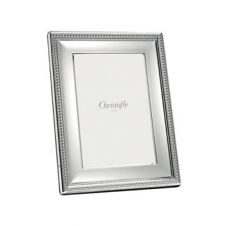 Christofle Perles Silver Plated Picture Frame 3x5