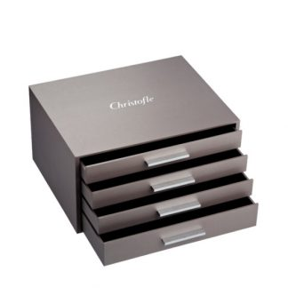 Christofle Rangement Imperial 144 Piece Flatware Storage Chest