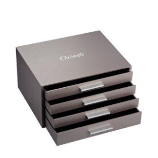 Christofle Rangement Imperial 144 Piece Flatware Storage Chest