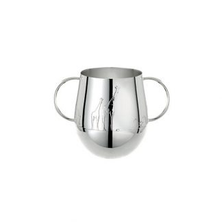 Christofle Savane Silver Plated Double Handled Baby Cup