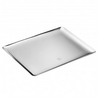 Christofle Silver Time Silver Plated Large Rectangular Platter
