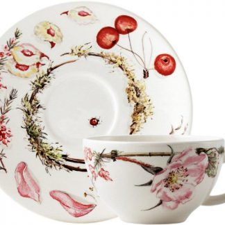 Gien Bouquet Floral Breakfast Cup And Saucer