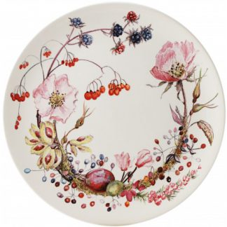 Gien Bouquet Floral Dessert Plate Floral