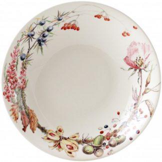 Gien Bouquet Floral Souppasta Plate