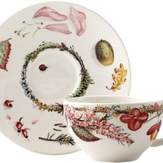Gien Bouquet Floral Tea Cup And Saucer