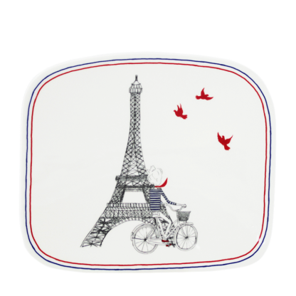 Gien Ca Cest Paris Organic Square Plate