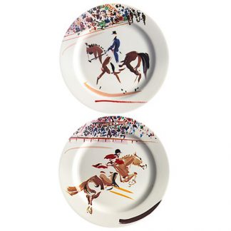 Gien Cavaliers Coasters Assorted Set Of 2