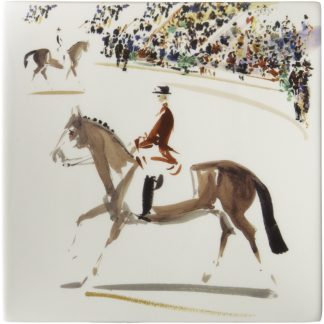 Gien Cavaliers Square Plate Small