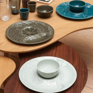 Gien Dipping Chip And Dip - Celadon