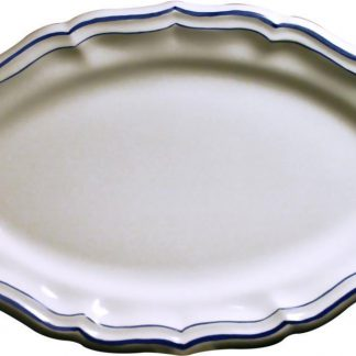 Gien Filet Bleu Indigo Oval Platter