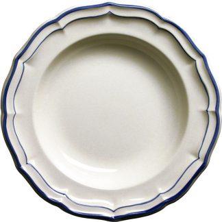 Gien Filet Bleu Indigo Rim Soup