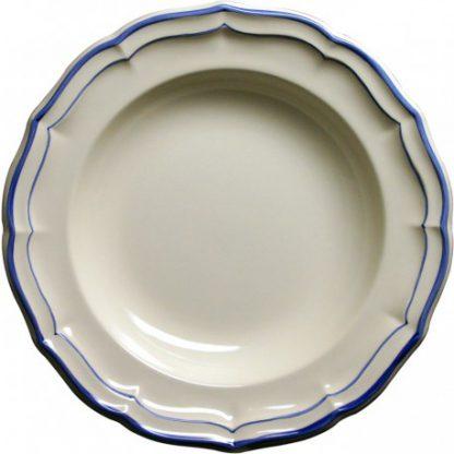 Gien Filet Bleu Rim Soup