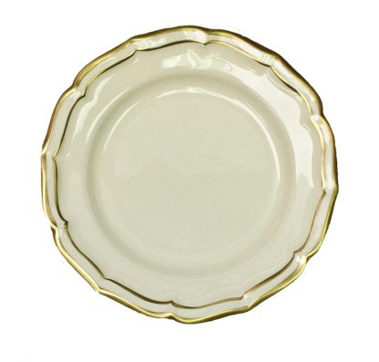 Gien Filet Gold Canape Plate