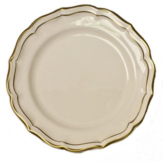 Gien Filet Gold Dessert Plate