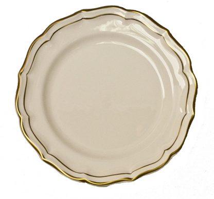Gien Filet Gold Dessert Plate