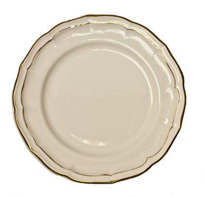 Gien Filet Gold Dinner Plate