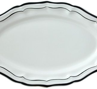 Gien Filet Midnight Oval Platter