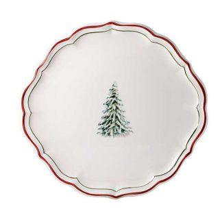 Gien Filet Noel Cake Platter